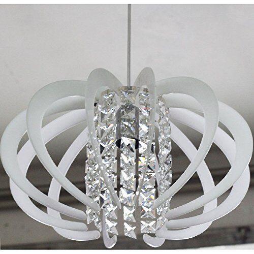 Lampadario a Sospensione Stile Moderno in Cristallo e Plexiglass 1 luce Vari Col