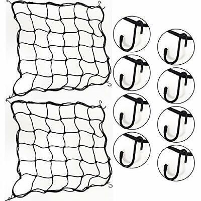 2 PCS Trellis Netting Plant Scrog Net 2X2 Feet Garden Netting Trellis Net Black
