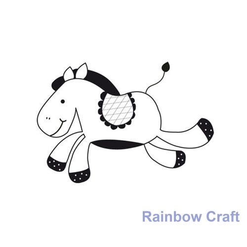 Kaisercraft mini stamps - 26 wording / patterns Scrapbooking card making - Horse