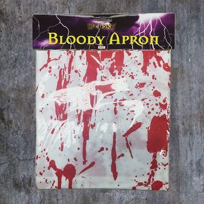 ADULT HALLOWEEN HORROR BLOODY BUTCHER BUDGET APRON UNISEX FANCY DRESS COSTUME