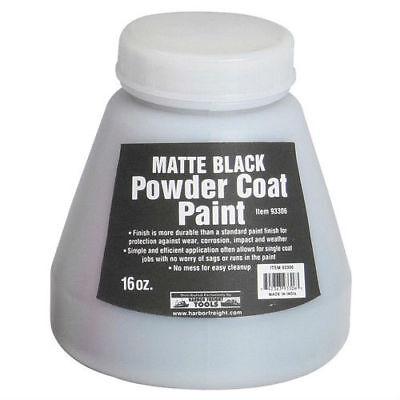 16 Oz. Matte Black Powder Coat Paint Finish Protects Against Corrosion No Mess