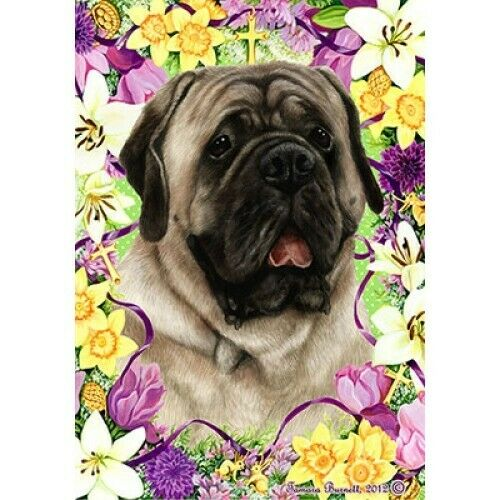 Easter Garden Flag - Silver Mastiff 332771