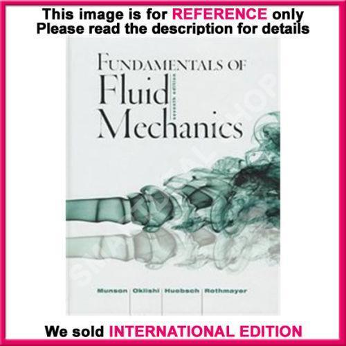 Fundamentals of fluid mechanics books ebay fandeluxe