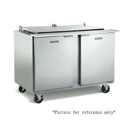 Traulsen Ust488-lr 48 Refrigerated Counter- Hinged Leftright- 8 Pan Capacity