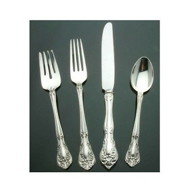 (Chateau Rose by Alvin Sterling Silver - 4 piece Place Setting French Blade Kf)