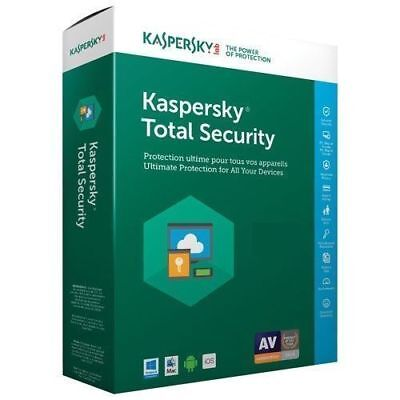 Kaspersky Total Security 2018 / 2019 1 Device - 1 year key full version