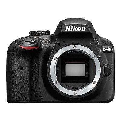 Nikon D3400 24.2 MP DX-Format CMOS Digital SLR Camera Body Black