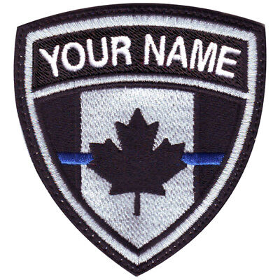 Thin Blue Line Canada Personalized Crest Embroidered (Personalization Canada)