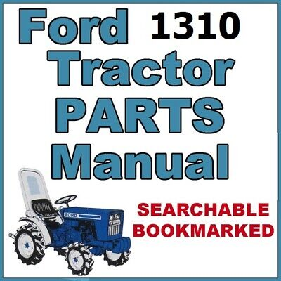 Ford 1310 Parts Manual 3 Cylinder Tractor Illustrated Repair Parts Catalog