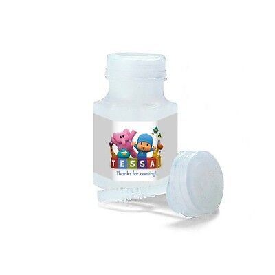 30 Pocoyo Party Favors Birthday Personalized Mini Bubble Labels