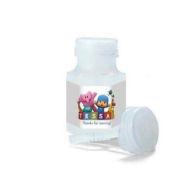 Personalized Bubble - 30 Pocoyo Party Favors Birthday Personalized Mini Bubble Labels