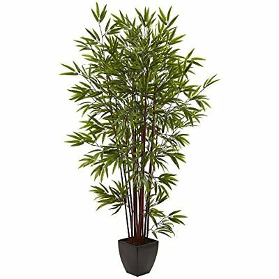 Nearly Natural Green 6 Foot Bamboo Silk Tree With Planter
