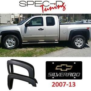 NEW CHEVY SILVERADO FENDER FLARES FDF-SIV07BK-RS 238099309 SPEC-D TUNING 2 FRONT AND 2 REAR AUTOMOTIVE 2007-13 CHEVROLET