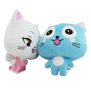 HOT Anime Fairy Tail Set of 2 Happy 12'' Plush Toy Stuffed Doll Soft Cotton Gift
