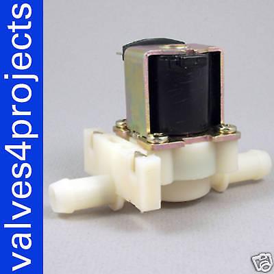 38 12vdc Hose Barb Electric Solenoid Valve Plastic Body Water 12-volt Dc Nc