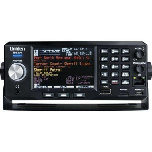 Uniden SDS200 True I/Q TrunkTracker X Base/Mobile Scanner APCO P25
