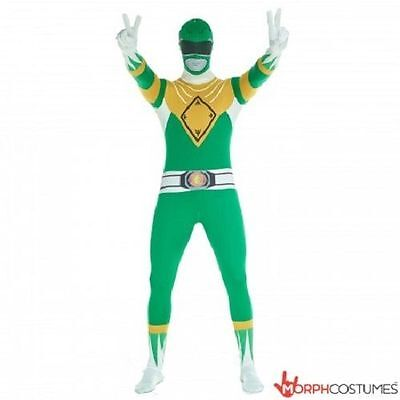 Morphsuit Green Power Rangers Body Suit Skin Halloween Adult Costume 78-0319 - Green Suit Halloween Costume