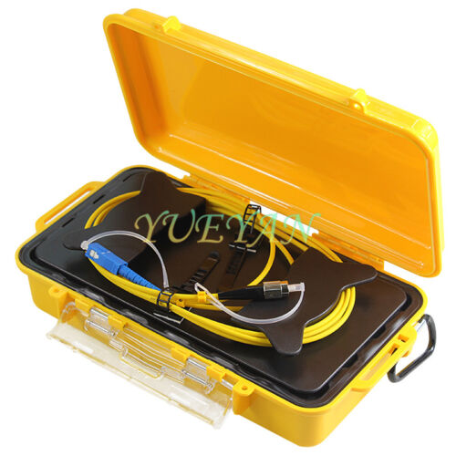 Fiber Optic OTDR Launch Cable Box 1km SM 1310/1550nm Fiber Rings SC UPC-FC UPC