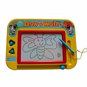 Magnetic Drawing Board for Kids with 2 Stamps and 1 Pen