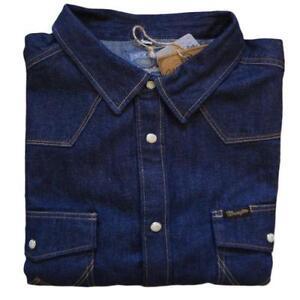 Wrangler shirt ebay for Wrangler denim shirts uk