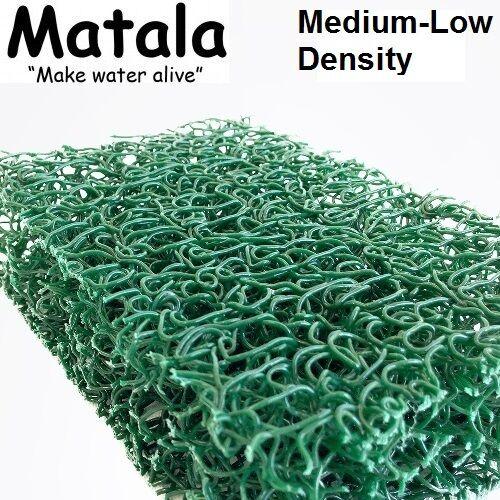 """Green Matala Pond Filter Mat - 14""""x24"""" - Medium-Low Density Media -water garden"""