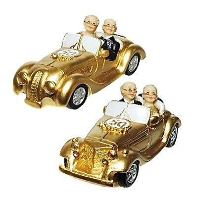 LDTIMER 4,5  x 11 cm goldene Hochzeit TORTEN DEKO GOLD  (Goldene Hochzeit)