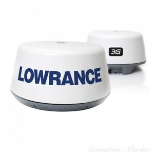 LOWRANCE 3G RADAR DOME AND CUSTOM POLISHED ALUMINUM STAND