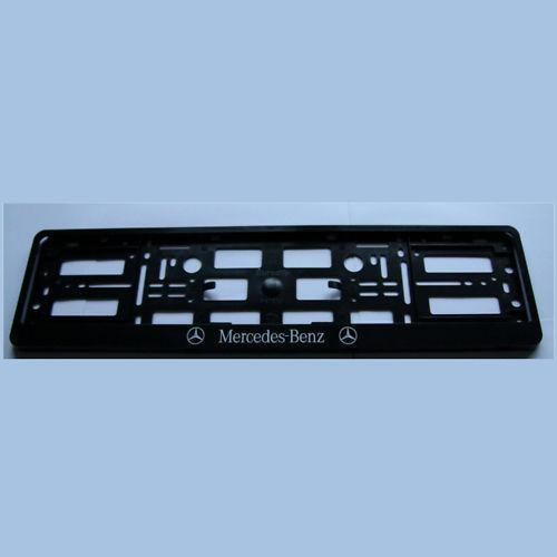 Mercedes benz number plate surround ebay for Mercedes benz plate