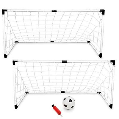 K-Roo Sports 2-pack of Youth Soccer Goals with Soccer Ball and Pump