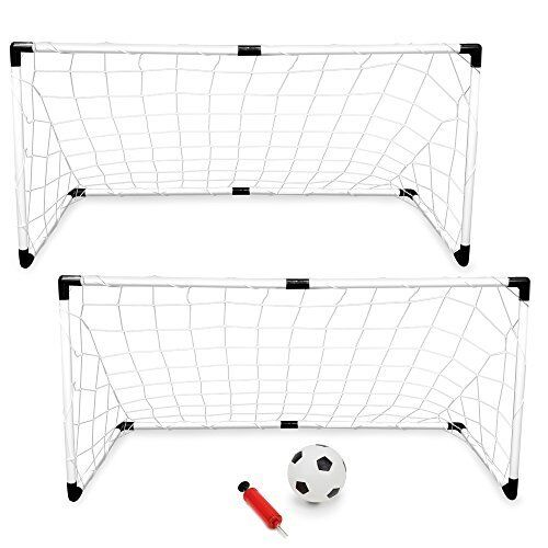 2-pack of Youth Soccer Goals with Soccer Ball and Pump