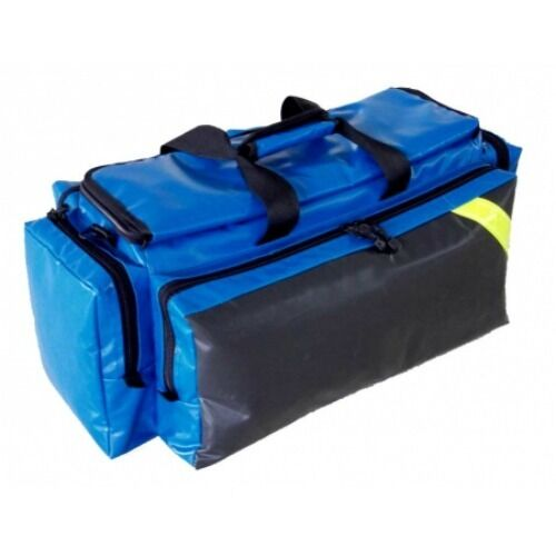 LINE2design Oxygen Bag - EMS EMT Deluxe Impervious O2 Bags with Straps - Blue