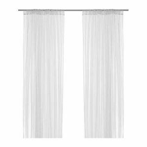 IKEA 1 x Pair of Long Sheer Floaty White Net Lill Curtains Brand New 280 x 250cm