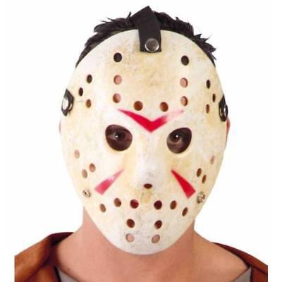 Deluxe Jason Hockey Maske Friday 13. Halloween Kostüm Erwachsene Horror Kostüm