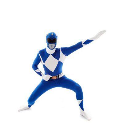 Official Blue Power Ranger Morphsuit Costume - Large - Blue Power Ranger Morphsuit