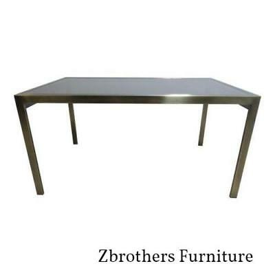 Mastercraft Bronze Floating Cantilever Dining Room Conference Table Mid Century Bronze Antique Dining Table