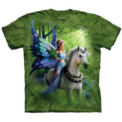 Fairy Angel Unicorn Dragon T Shirt The Mountain Enchanted Fairy Forest Tee S-5XL