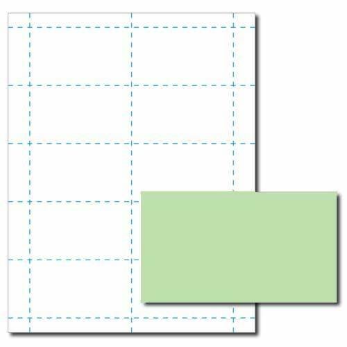 Green Business Card Printer Paper – 100 Sheets (Yields 1000 Cards)