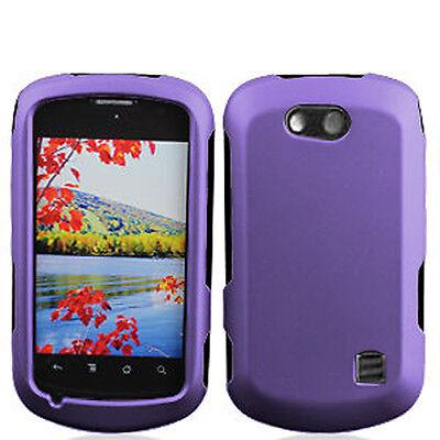 For Cricket ZTE Groove Rubberized HARD Protector Case Phone Cover Dark Purple Dark Rubberized Protector Case