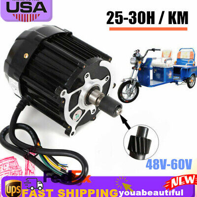 1000w Electric Motor Brushless Tricycle Motor Disc Brake 300rpm 48v-60v Dc48v