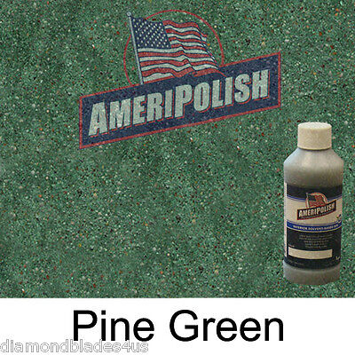 1 Gl. Pine Green Concrete Color Dye 4 Cement Stain Ameripolish Solvent Based