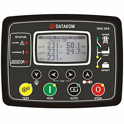 Datakom Dkg-329-2g Dual Generator Mains Automatic Transfer Switch Control Panel