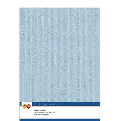 (EUR 4,81/m²) Leinenkarton 10xA4-Bogen zartblau 26