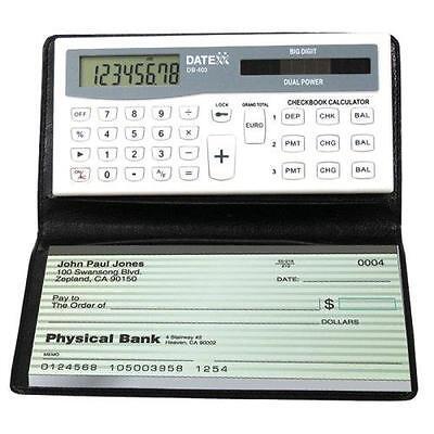Datexx Db 403 3 Memory Bank Account Balance Checkbook Solar Power Calculator New