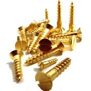 Slotted Brass Screws