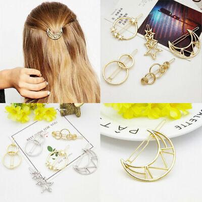 Womens Girls 10Pcs//set Hair Clips Barrette Slide Grips Hairpins Geometric Metal