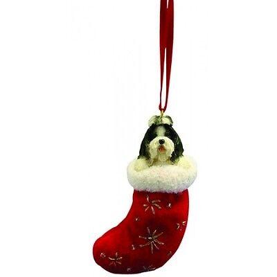 Shih Tzu Black Santa's Little Pals Dog Christmas Ornament