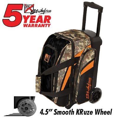 KR Strikeforce Cruiser Smooth Camo 2 Ball Roller Bowling Bag