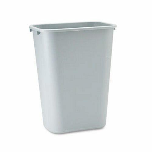 Rubbermaid 2957 Deskside 10 1/4 Gallon Wastebasket, Gray (RCP 2957 GRA)