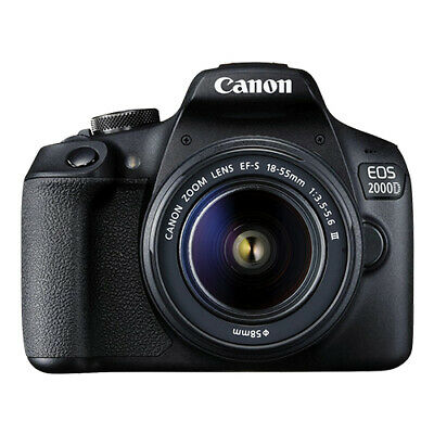 Canon EOS 2000D / Rebel T7 DSLR Camera with EF-S 18-55mm f/3.5-5.6 Lens