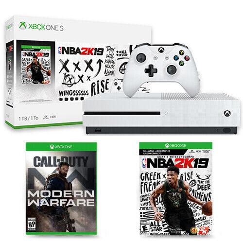 Xbox One S 1TB NBA 2K19 Console Bundle + Call of Duty: Modern Warfare Xbox One
